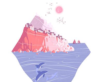 Coastal Town Diamond