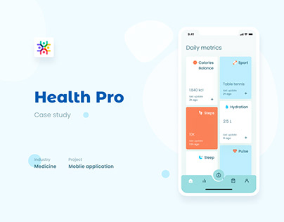 Health Pro. Mobile app for doctors and patients