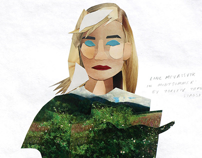Collaged Portraits - using famous Norwegian artworks