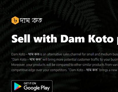 Marketing Landing Page - Dam Koto Platform