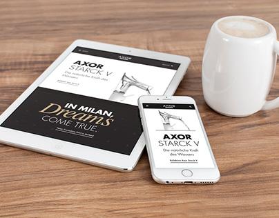 AXOR - Website for a luxury sanitary design brand.