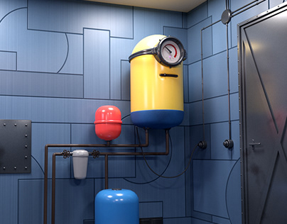 Minion style water heater