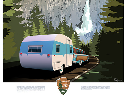Travel Poster Yosemite