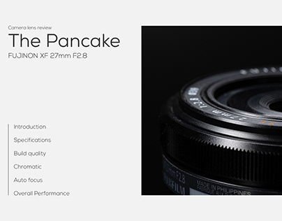 """The Pancake"" Fujinon XF27 mm F2.8 review book stype"