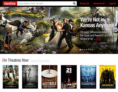 Moviefone.com redesign