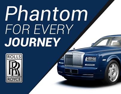 Phantom - Rolls royce Website Design