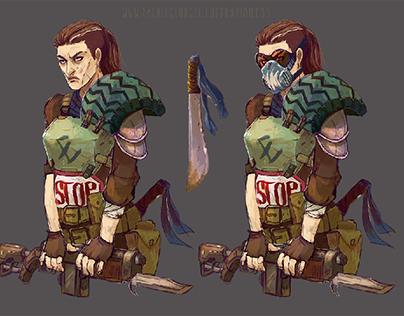 Wastelander Character art
