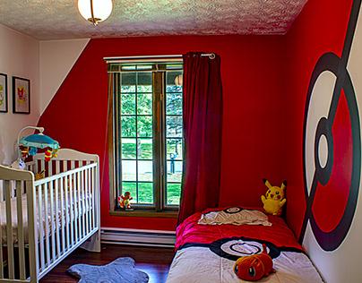 Murale - Chambre du bébé - Pokemon