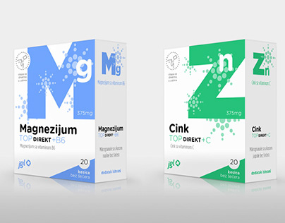Food supplements packaging design