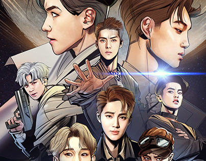 [EXO] POWER ALBUM COVER, Comics Version.