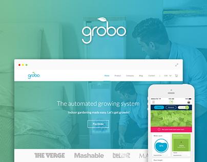 Grobo Smart Garden eCommerce Site + Web App Design