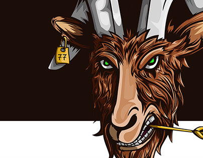 illustrated goat | design for flannel.