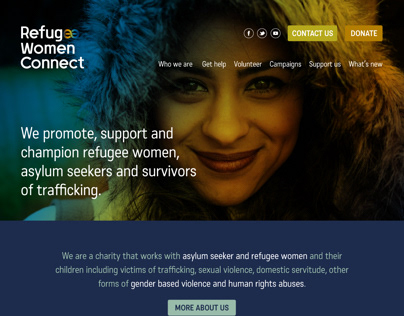 Refugee Women Connect - UX/UI design