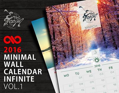 2016 Calendar Minimal Wall Infinite Vol.1