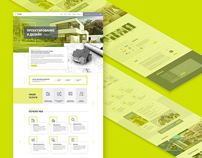 Parallel - Landing page for architectural company