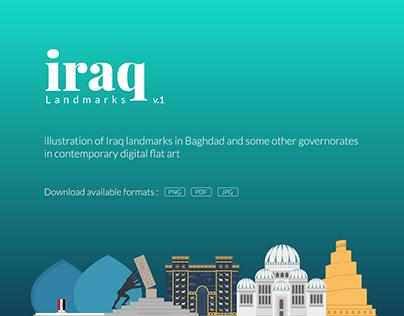 Iraq Landmarks v1 - Flat Design