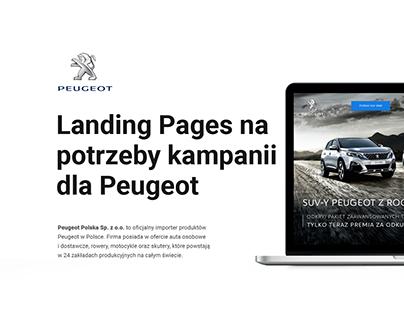 Serwisy Landing Page na potrzeby kampanii dla Peugeot