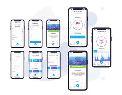 Mobile App concept for mobile operator in Azerbaijan