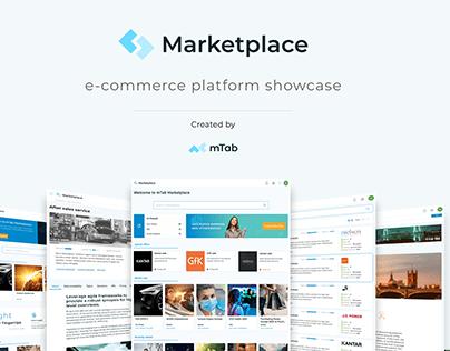 Marketplace e-commerce platform showcase
