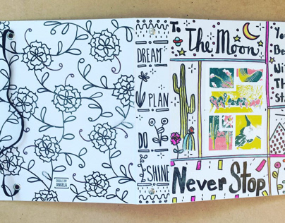 Hand illustrated planner cover