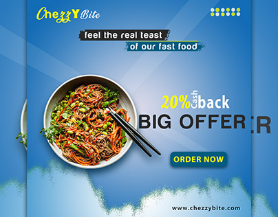Restaurant food banner for instagram
