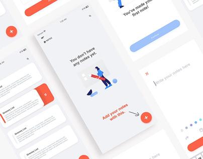Note Taker UI Design