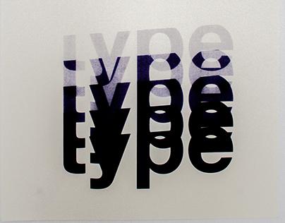 talk type, typographic poster