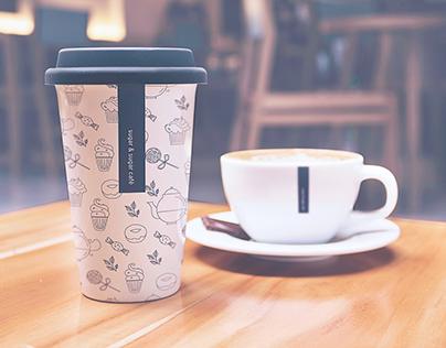 sugar and sugar cafe - branding