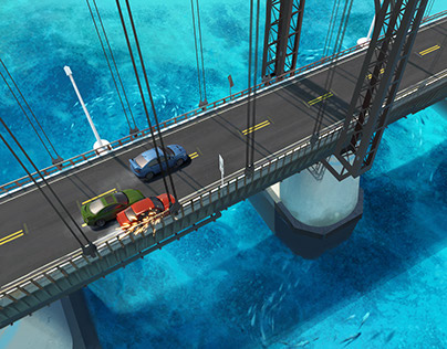 Environments for a mobile racing game