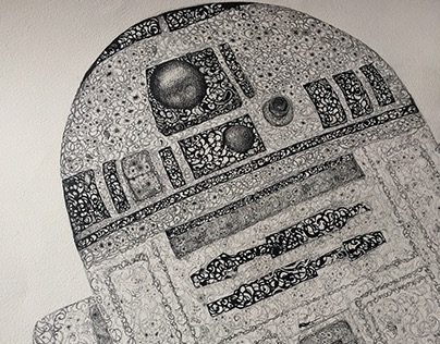 'R2-D2' All Flowered Up and Ready To Go.' by Flotra