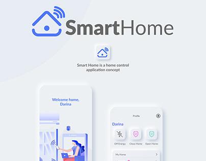 Smart Home. Neumorphism app concept