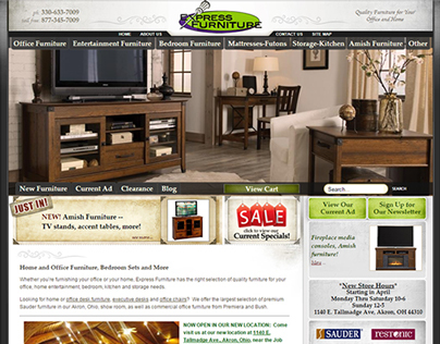 Express Furniture - web design