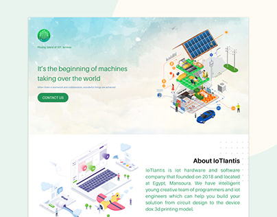 IOT Home page UI/UX design