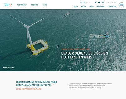 Ideol - Leader de l'éolien Flottant