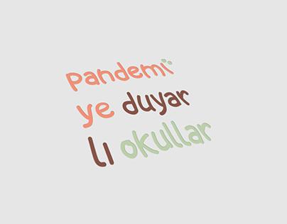 Pandemiye Duyarlı Okullar - Logo Design