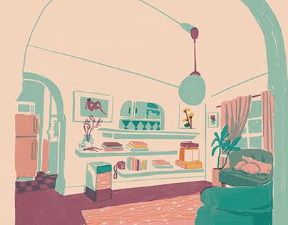 A Sunny Art Deco Room