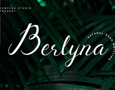 BERLYNA HANDWRITTEN - FREE SCRIPT FONT