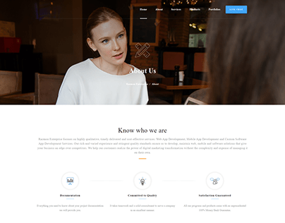 Corporate & Business Web Templates - About Us Page