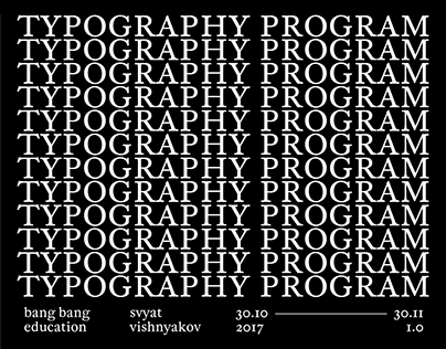 Typography Program BBE 1.0