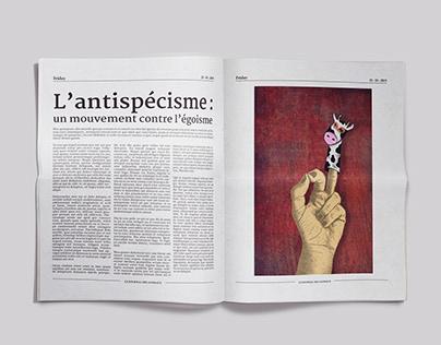 Illustration éditoriale - Antispécisme