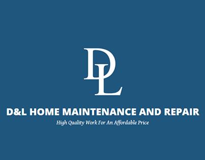 Brand Identity Design For D&LHome Maintenance & Repair