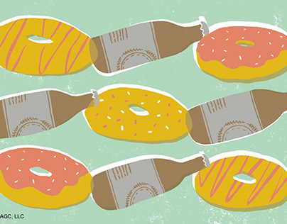 Donuts and Beer greeting card for Just Wink