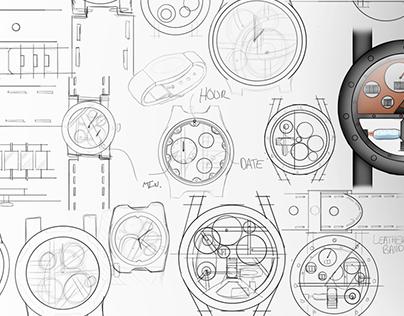 Steam Engine Skeleton Watch Concept