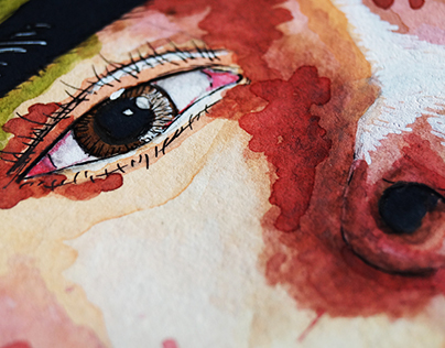 Watercolor's Selfportrait //