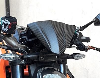 MSD Asymetric Dashboard Cover for KTM Superduke 1290