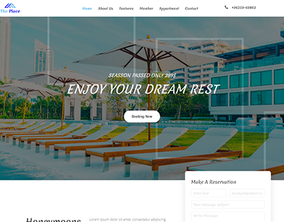 The Place Resort Landing Page
