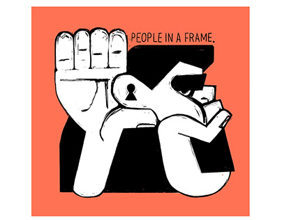 selfish people in a frame
