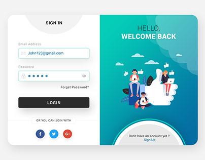Login & Signup Website Form