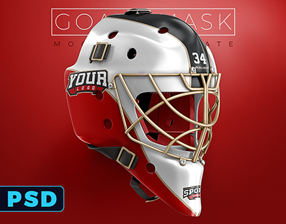 Hockey Goalie Mask Mockup PSD template