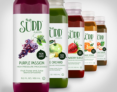 SUDD Fruit Smoothie Shake Branding
